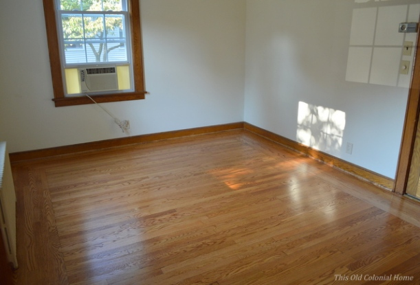 Dining room hardwood floors refinished minwax golden oak