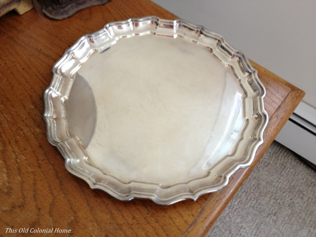 Silver platter from thrift store