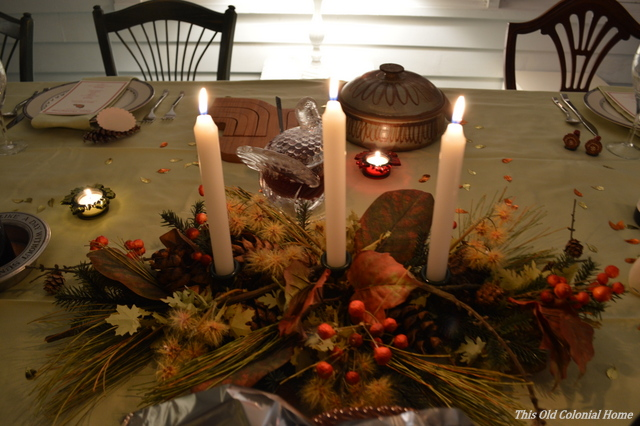 Fall candlelit centerpiece