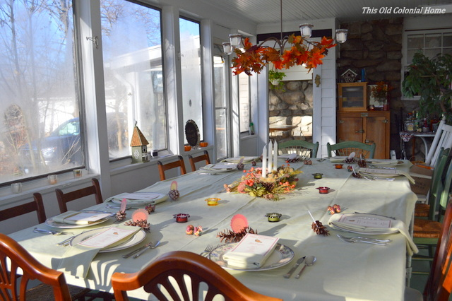 Big Thanksgiving tablescape