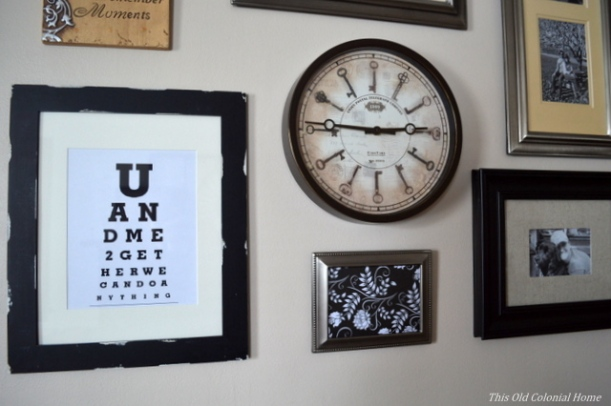 Eye chart displayed in frame