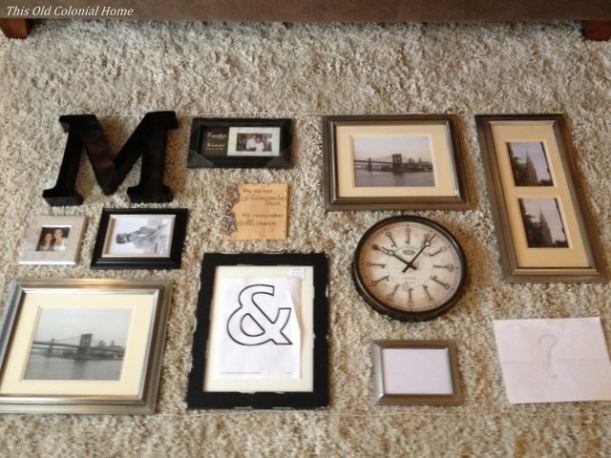 Rearranging gallery wall layout
