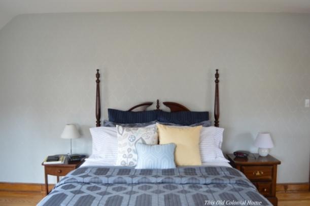 Master bedroom bedding after