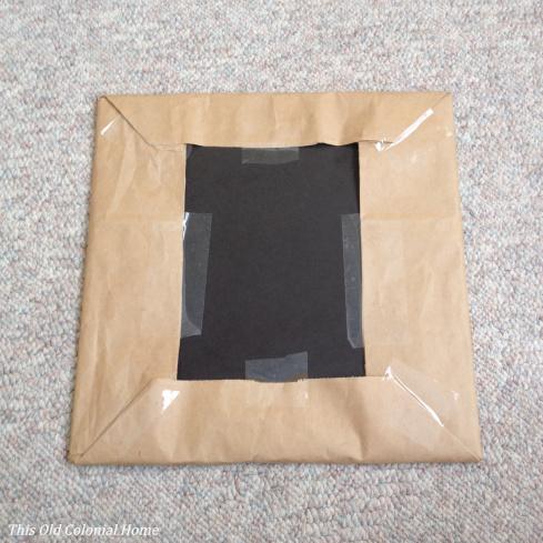 Frame backing wrapped like a present