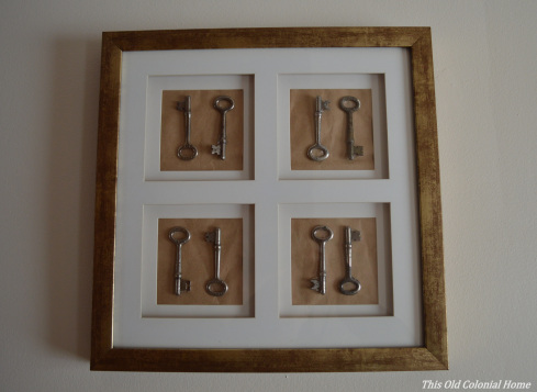 Easy DIY skeleton key display