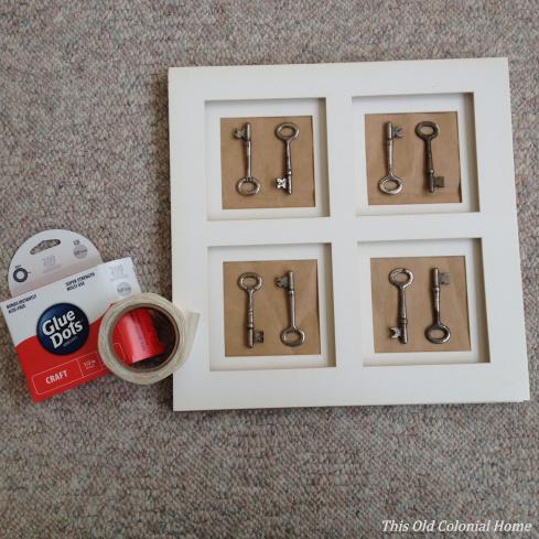 Keys arranged within matte