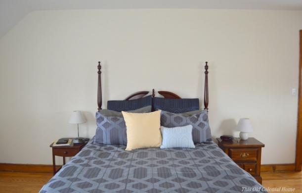 Master bedroom bedding before