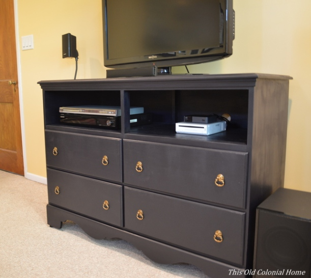 DIY dresser into TV console