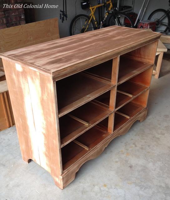 Dresser base after sanding