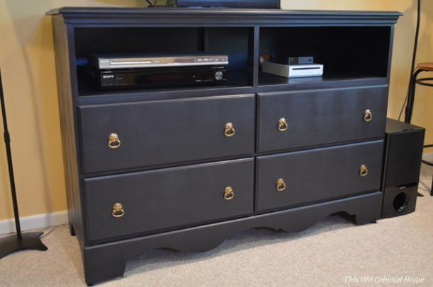 Turn a dresser into a TV stand DIY
