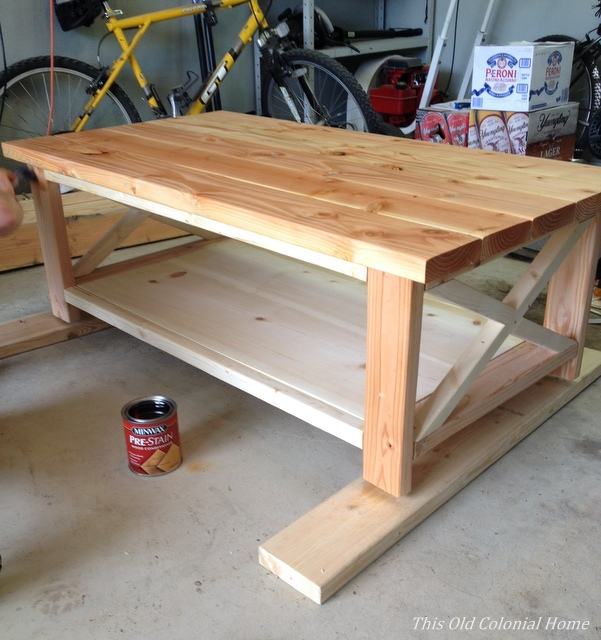 Applying pre-stain before staining