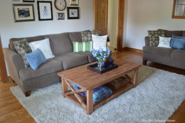 DIY coffee table in living room
