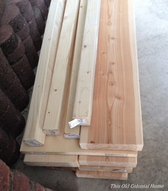 Supply of pine and douglas fir boards for coffee table