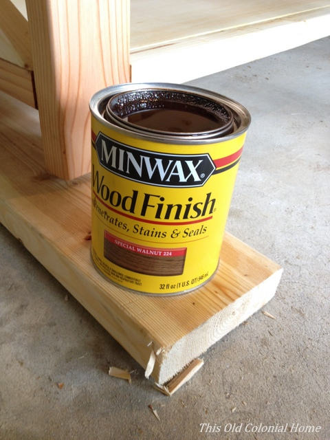 A can of Minwax stain Special Walnut