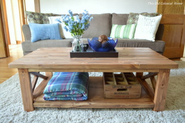 Front view of DIY coffee table
