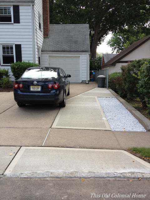 driveway renovation to fit 2 cars across