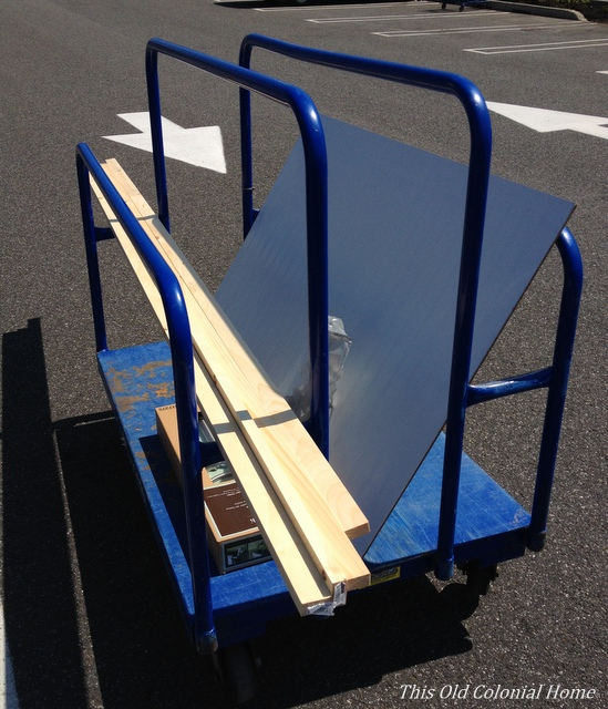 cart with wood supplies