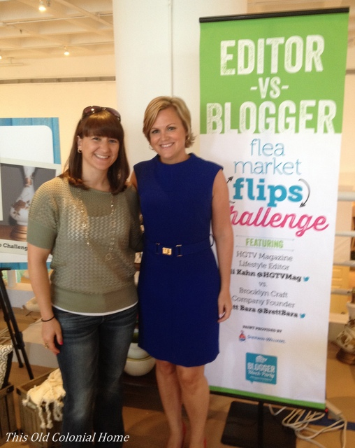 Posing with Sara Peterson editor of HGTV magazine