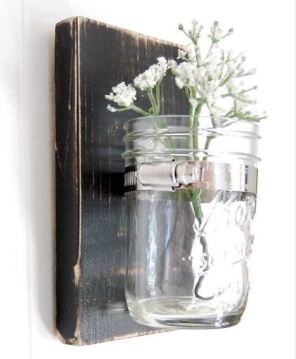 Simple jar sconce