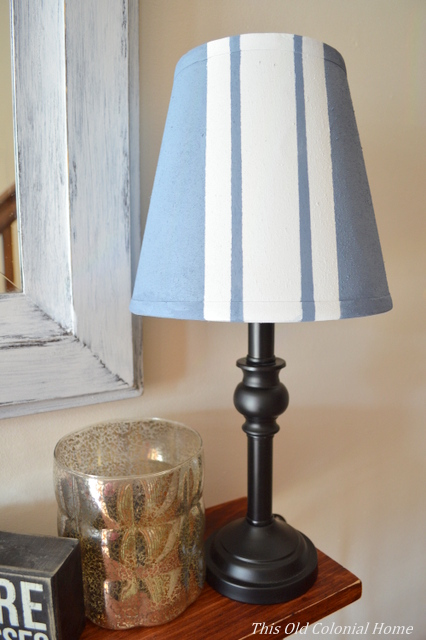 painted stripes on lamp shade