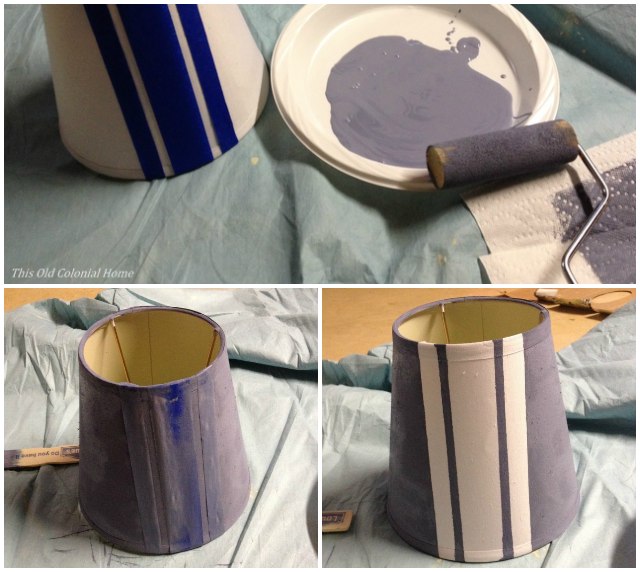 painting a lamp shade