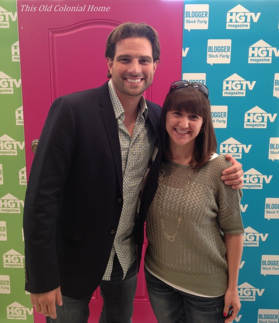 Posing with HGTV star Scott McGillivray