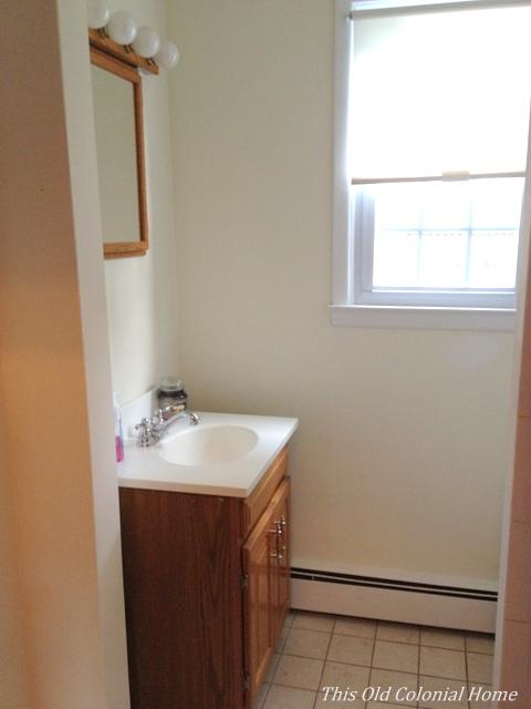 plain white bathroom