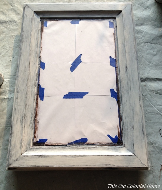 Entryway Decor Part 2: Distressed Mirror | This Old Colonial Home