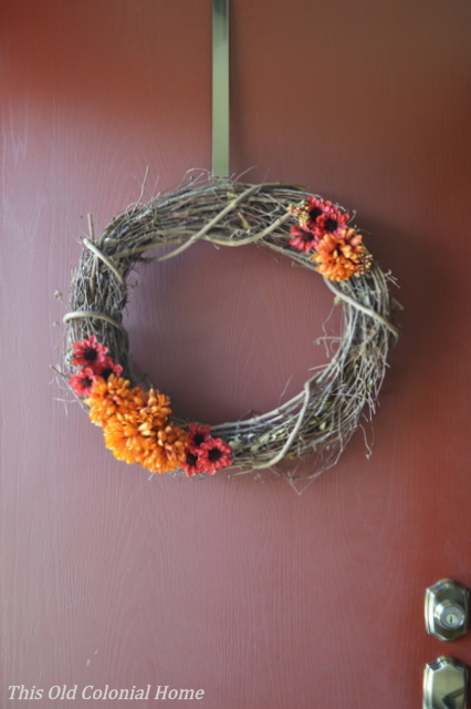 Make your own wreath with flowers and berries