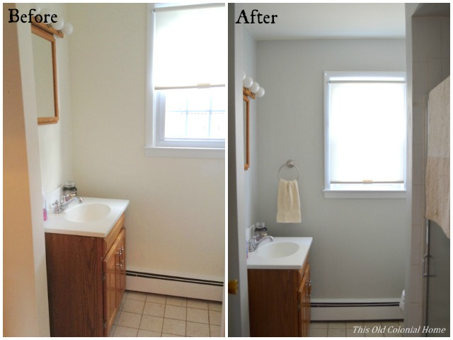 Downstairs Bathroom Before and After