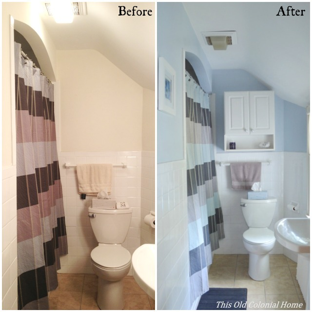 Upstairs Bathroom Before and After