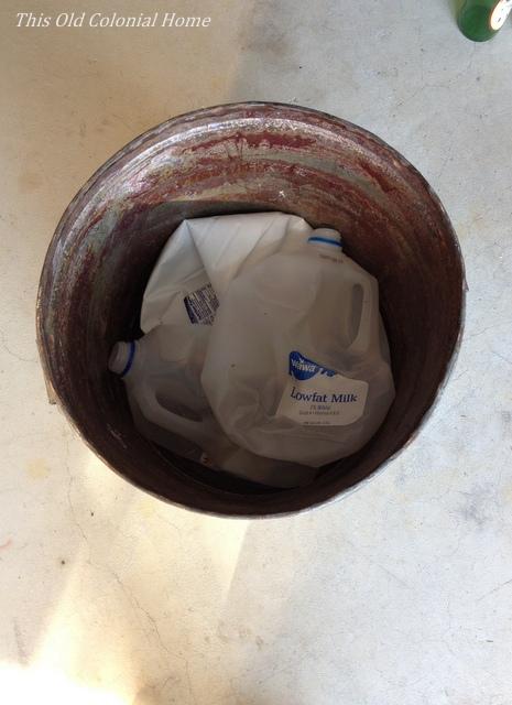 Plastic milk jugs as filler