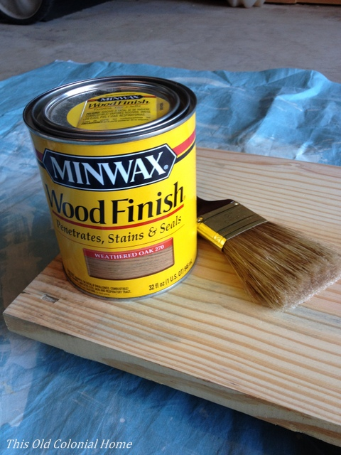 Weathered oak stain by Minwax
