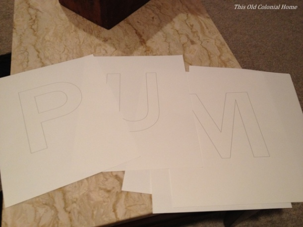 Letters printed for DIY sign