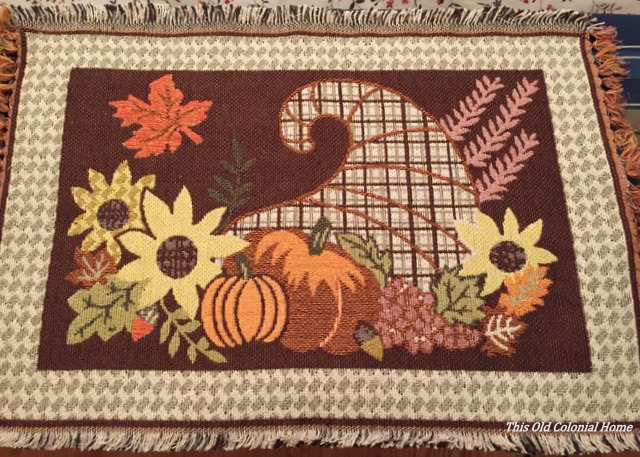 Thanksgiving cornucopia placemat