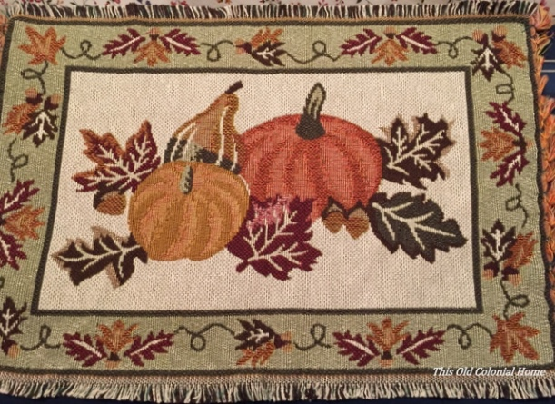 Thanksgiving pumpkins placemat
