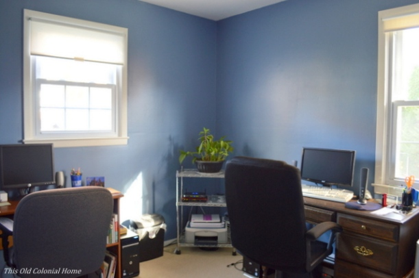 Blue home office