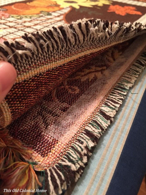 Lining up fabric