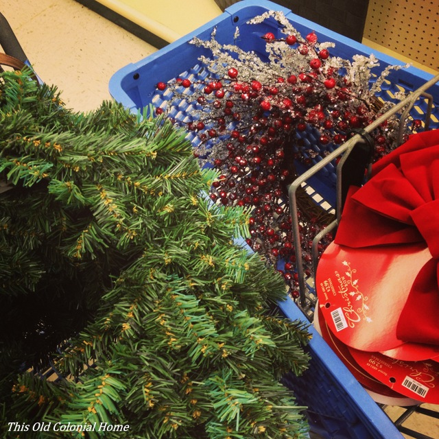 Christmas wreaths and bows from Hobby Lobby