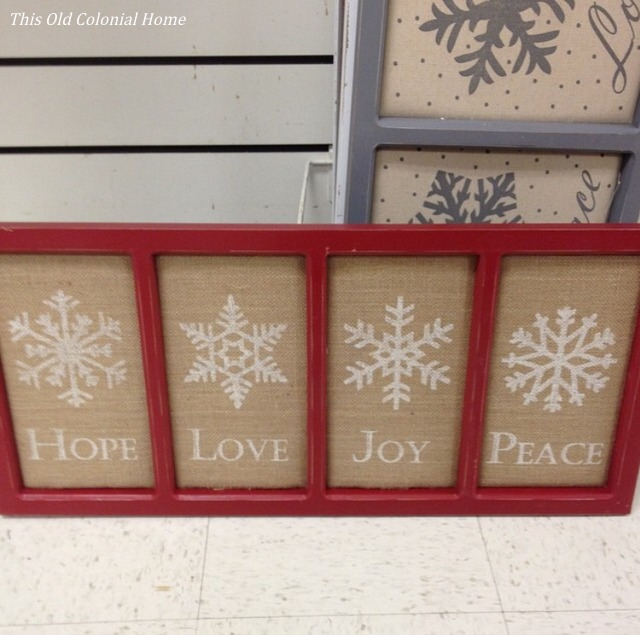 Rustic Christmas sign found at Marshalls
