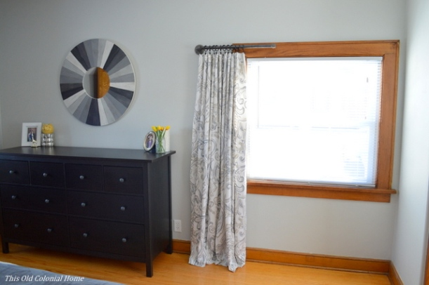 One panel window curtain