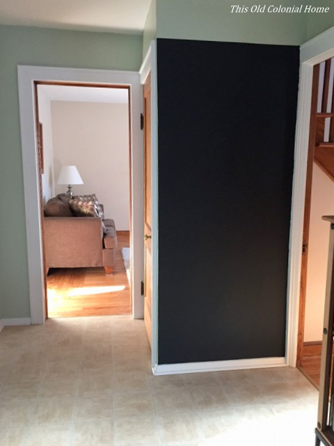 Blank kitchen chalkboard wall