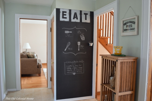 Kitchen Chalkboard Wall This Old Colonial Home