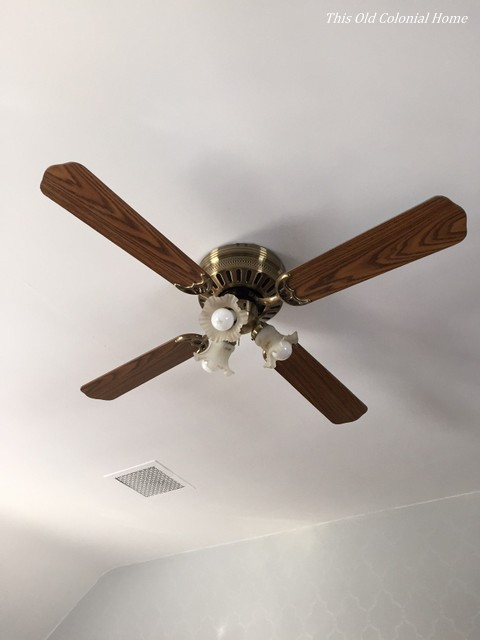 1980s Ceiling Fans : Ceiling fan this old colonial home