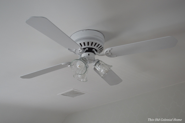 Paint Ceiling Fan : Spray paint this old colonial home
