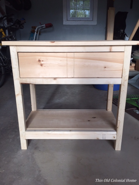 Ana White plans for farmhouse nightstand