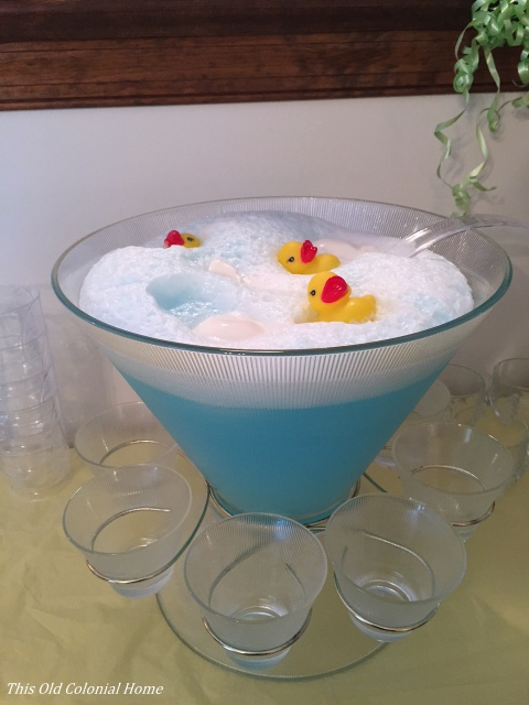 Baby shower punch with rubber ducks