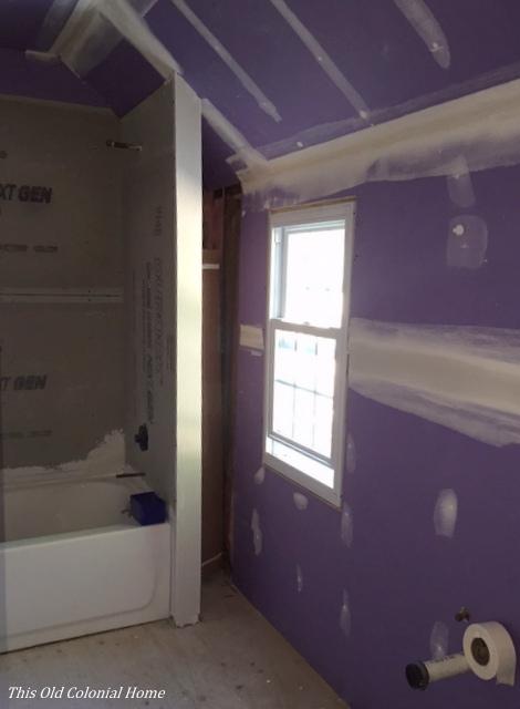 Bathroom renovation takes shape