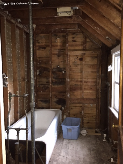 Bathroom Renovation Progress This Old Colonial Home - Gutting a bathroom