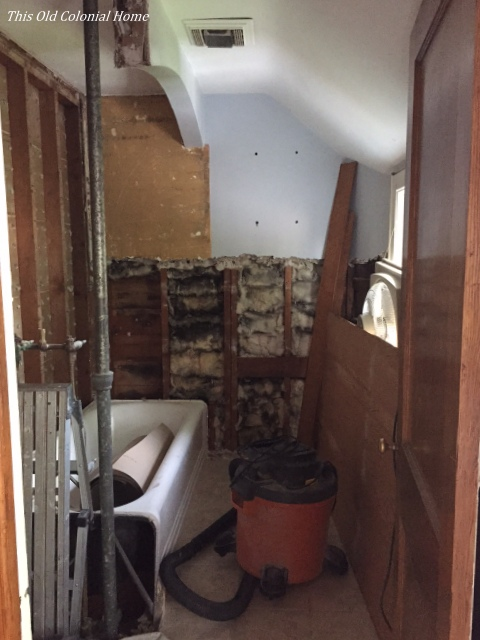 Bathroom Renovation Progress This Old Colonial Home - How to gut a bathroom
